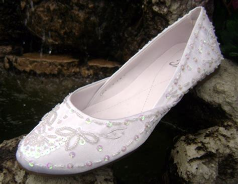 Wedding Slippers by Comfortable Ballet Slippers Flats Low Heels
