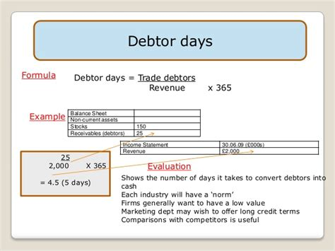 Credit Period Debtors Formula 3 4 Ratio Analysis 1