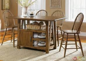 Kitchen Island Storage Table farmhouse counter height storage table casual dining set