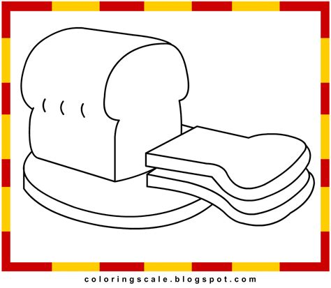 free coloring pages of 5 loaves of bread and 2 fish