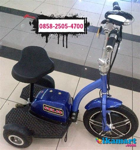 Sepeda Listrik Tiga Roda sepeda listrik selis roda tiga type patrol sepeda