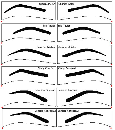 eyebrow shape template free eyebrow stencils