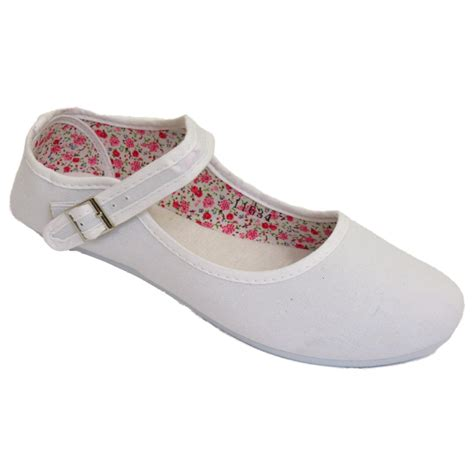 summer flats shoes womens white buckle flat ballet ballerina summer