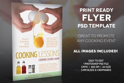 Cooking Lessons 2 A4 Flyer Template Flyer Templates On Flyer Template 2