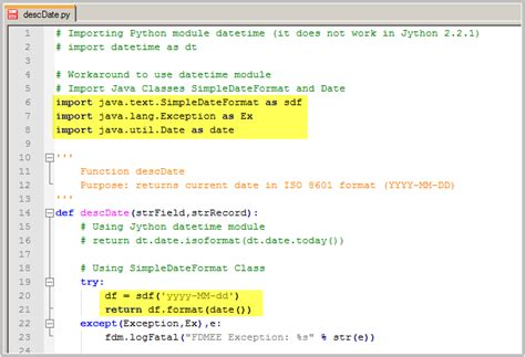 format date using simpledateformat java fishing with fdmee using java classes from jython scripts