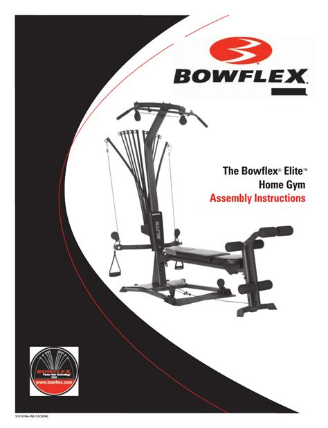 bowflex elite home user manual 92 pages