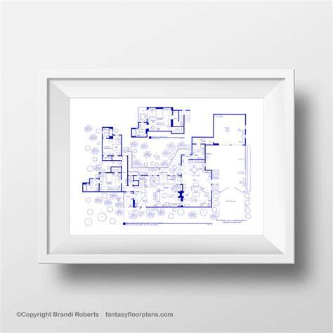 layout charlie harper s house two and a half men house plan