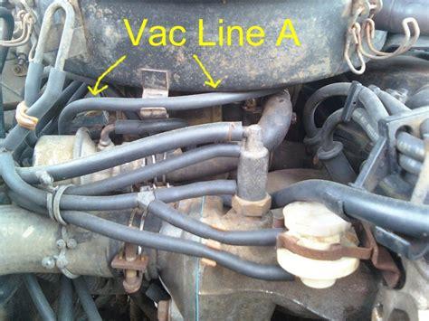 nissan  pickup truck vacuum hose routing  repair guide