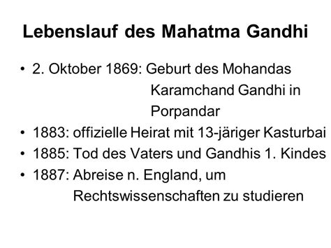 Lebenslauf Gandhi Gandhi Und Jinnah Der Weg Zur Unabh 228 Ngigkeit Indiens Ppt Herunterladen
