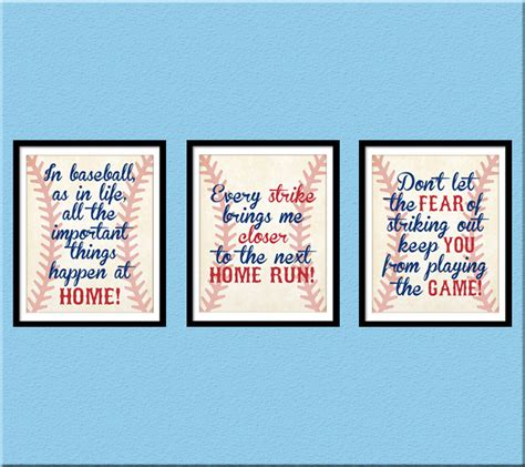 printable baseball quotes instant download baseball quotes boy room decor home run
