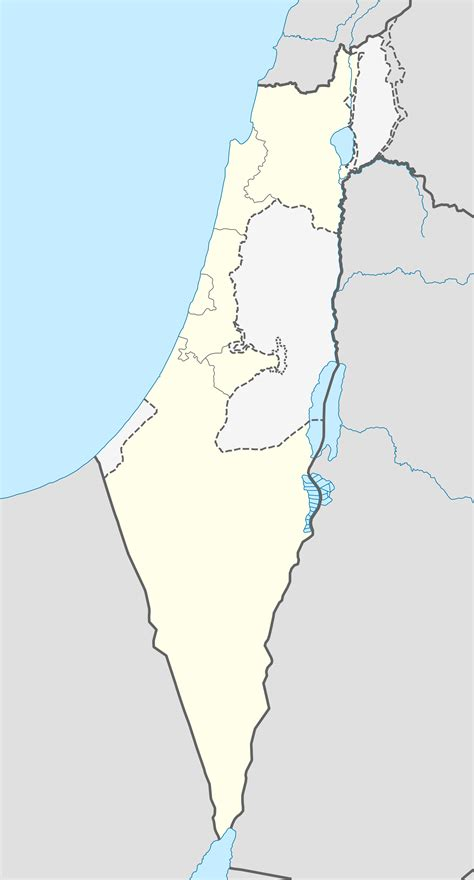 israel outline map  mapsofnet