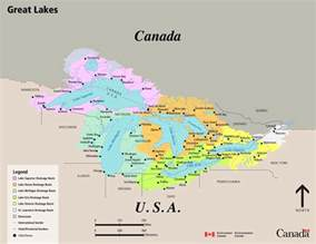 lakes in canada map environment and climate change canada water map of