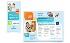 for marketing services template cleaning services brochure template design