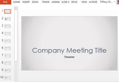 Company Meeting Powerpoint Template With Agenda Slides Meeting Ppt Templates Free