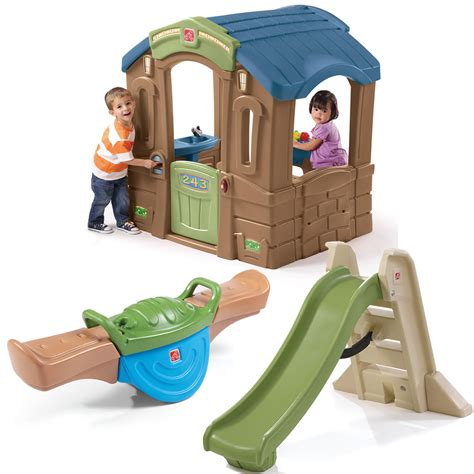 step 2 swing and slide combo outdoor adventures combo kids toy combo step2