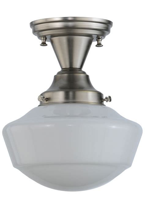 Schoolhouse Semi Flush Ceiling Light Meyda 143957 Schoolhouse Semi Flush Mount Ceiling Fixture