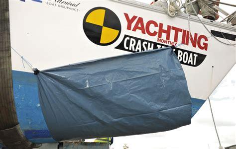 crash test boat crash test boat holed and sinking
