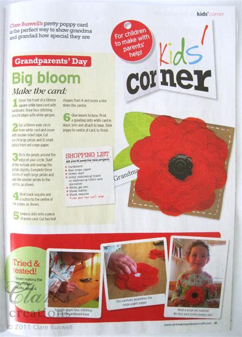 Kem Basic Flower cardmaking papercraft mag uk issue 96 clare s creations