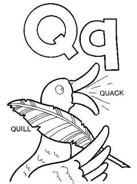 alphabet coloring pages q quill and quack alphabet coloring pages alphabet