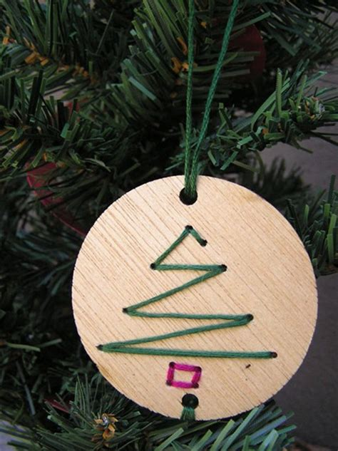 how to make wooden ornaments wood drill and yarn ornaments 187 curbly diy