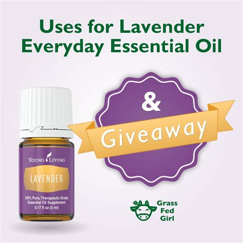 Essential Oil Giveaway - everyday essential oils lavender uses and giveaway