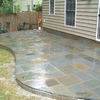 slate tile patio outdoor projects the