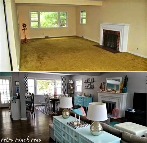 room remodel retro ranch reno our rancher before after the living