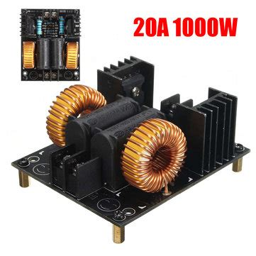 induction heating driver rudolf 20a 1000w zvs low voltage induction heating board module flyback driver heater sale banggood