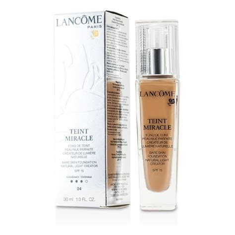 Lancome Teint Miracle Foundation lancome teint miracle bare skin foundation light