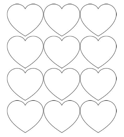 printable heart art free printable heart templates large medium small