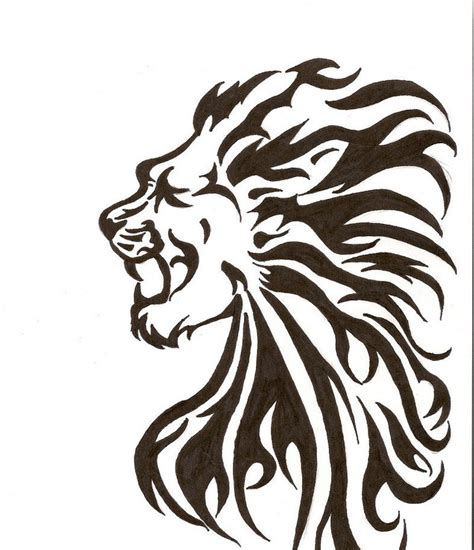 tribal tattoo lion tribal tattoos designs