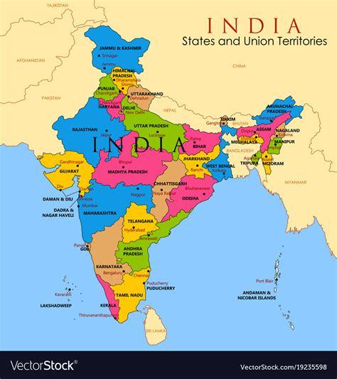 india on map map of india ora exacta co