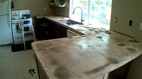 Home Depot Kitchen Sink Cabinet custom concrete counter tops start to finish part 2 youtube