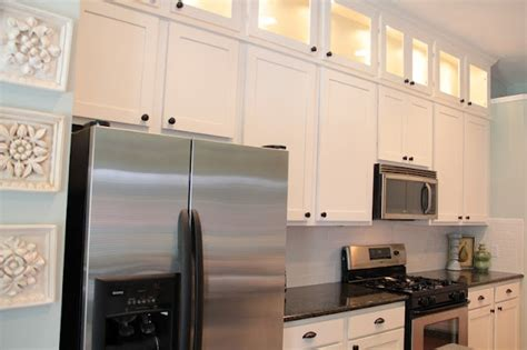 remodeled kitchen how she used the space above the