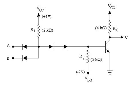 resistor transistor logic nor gate an introduction to digital logic familities
