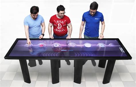 sensytouch creates world s sleekest 100 inch multi touch table
