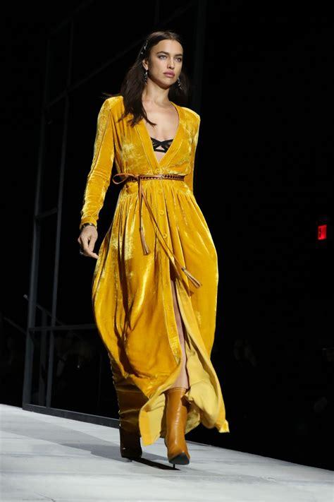 New York Fashion Week by Irina Shayk At Bottega Veneta Fashion Show During New York