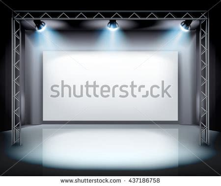 stage backdrop design vector spotlights on stage vector illustration stock vector