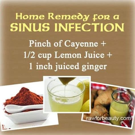 sinus infection home remedy remedies