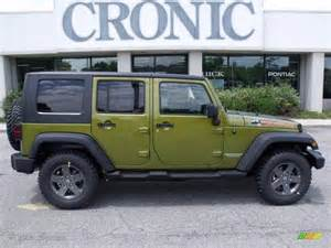 Green Jeep Colors 2010 Rescue Green Metallic Jeep Wrangler Unlimited