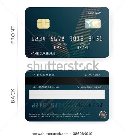Blank Credit Card Stock Images Royalty Free Images Vectors Shutterstock Credit Card Design Template