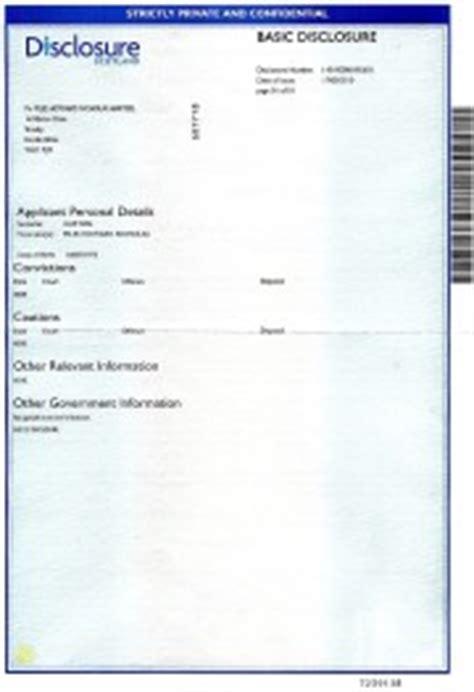 basic disclosure certificate