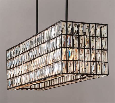 pottery barn chandelier adeline rectangular chandelier pottery barn