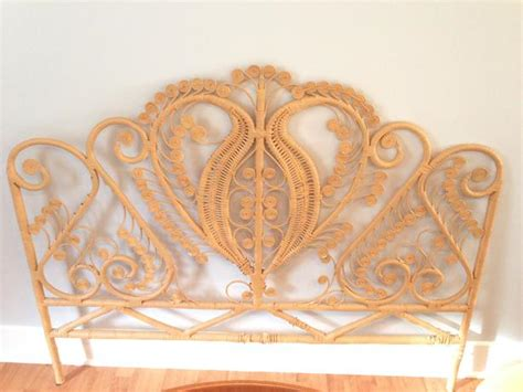Furniture Kitchener Waterloo by Vintage Rattan Peacock Headboard Queen Victoria City