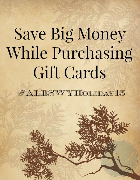 Save On Gift Cards - save big money while purchasing gift cards albswyholiday15