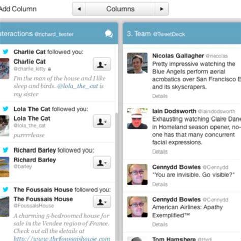 nieuwe layout twitter stekker eruit voor tweetdeck mobile op 7 mei
