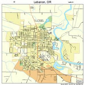 lebanon oregon map 4141650