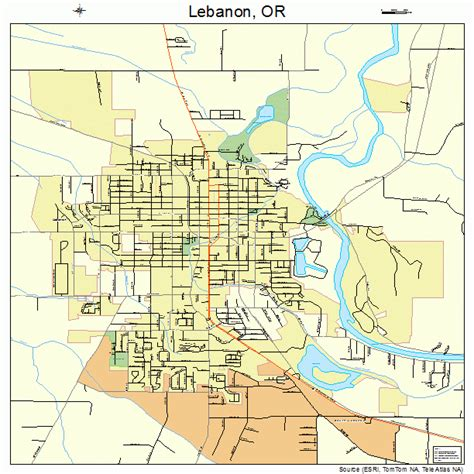 Lebanon Search Map Of Lebanon In Oregon Search Engine At Search
