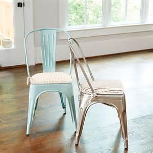 metal chair cushions marian metal chairs with cushions set of 2 farmhouse