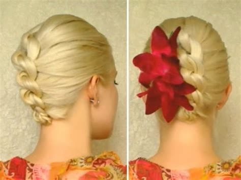 updo hairstyles knotted braid knot braid prom hairstyle for medium long hair tutorial